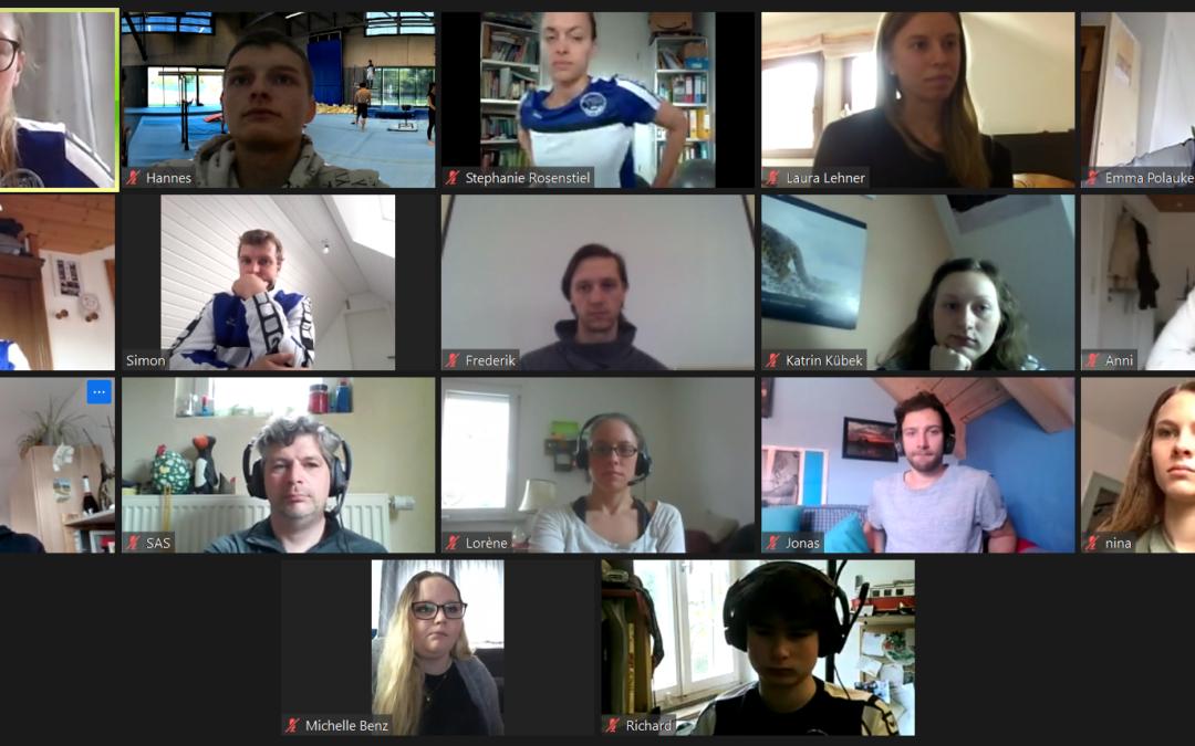 Intensiver Austausch beim ersten Tag der Trainer*innen – Online-Version